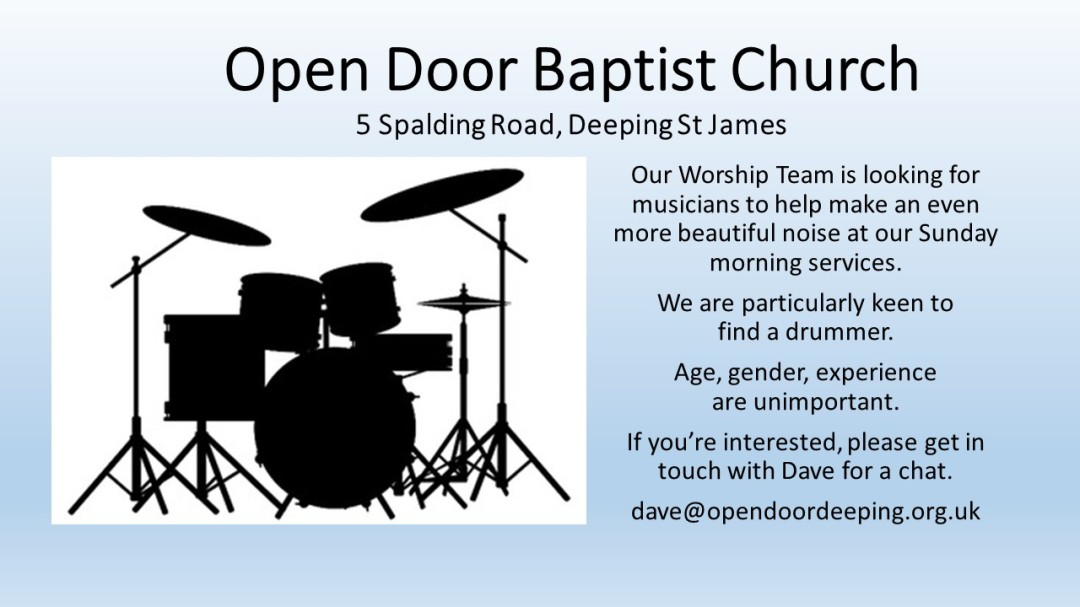 Open Door Baptist Church Drummer